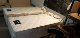 2 dunlopillo divan bed bases and mattress