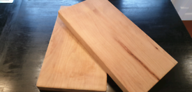2 x solid beech wood chopping blocks