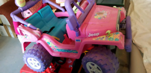 2 Fisher-Price power Wheels JEEPS