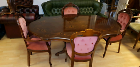 beautiful Italian solid table with 4 chairs