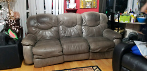 3 seater sofa, Nubuck leather