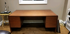 Large office desk with filing drawers