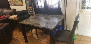 Table and two chairs $50