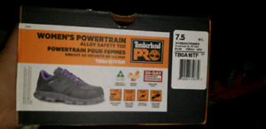 Womans timberland steel toe shoes sz. 7 5