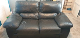 2 Seater Black Leather Sofa *PENDING*
