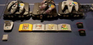 Nintendo 64 [N64] Systems + Controllers + Games