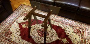 Glass Coffee Table & 2 Side Tabless