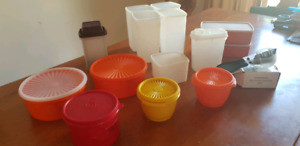 Tupperware Allegra Divided Server Caterpillar Red White New