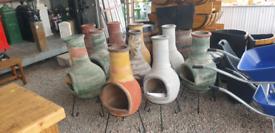 Clay patio garden firepit heaters