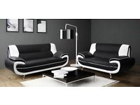 ***BRAND NEW*** CAROL 3 + 2 SEATER FAUX LEATHER SOFA .... CALL NOW