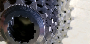 10 speed Shimano Dura-Ace cassette.