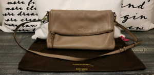Kate Spade Crossbody Bag in Taupe Leather