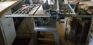 TABLE SAW  AND SCROLL SAW AND VISE