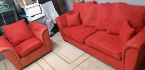 Couch + Chair/ delivery available