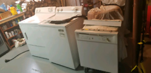 Washer, dryer and dishwasher