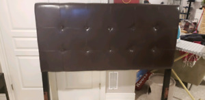 Leather headboard and footboard -QUEEN