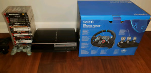 Playstation 3 with Racing Wheel and Games