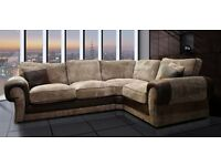 brown cord corner sofa delivery available