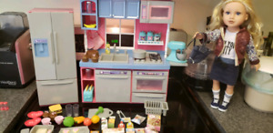 Journey girl gourmet kitchen and doll