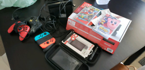 Nintendo switch with extras used twice with receipt and box