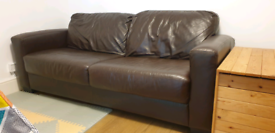 Dante brown leather 2.5 seater and arm chair