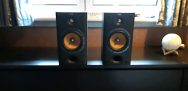 B and W speakers