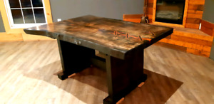 Live edge maple dining room table
