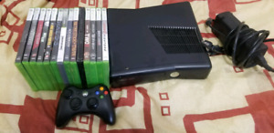 Xbox 360 with 12 games and controller