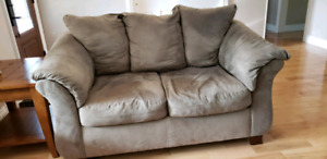 Couch, loveseat, chair and ottoman.