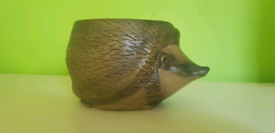 Rare Large Poole Pottery Barbera Linley Adam's Hedgehog Plant pot