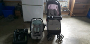 Stroller, carseat and base