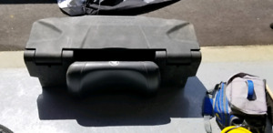 Rear cargo box with back rest