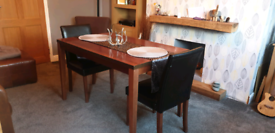 DINING TABLE + 2 CHAIRS ** free delivery **