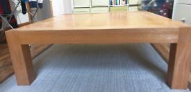 Oak Coffee table 100cm x 110cm