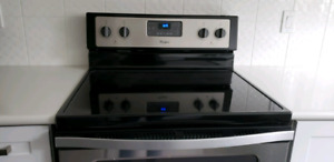 BRAND NEW WHIRPOOL BLACK STAINLESS CONVECTION ELECTRIC RANGE