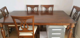 Solid wood 6 seat dining table