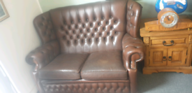 X2 Brown Chesterfield Sofas price is per sofa
