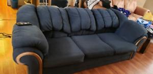 20dd84a0d79ce Calgary. Comfy used blue sofa