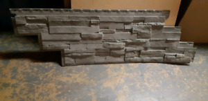 Novik gray dry stack stone sidding