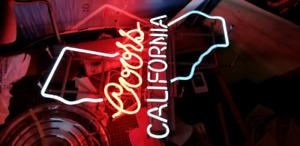 Coors for California neon sign