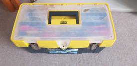 Stanley tool box & tools