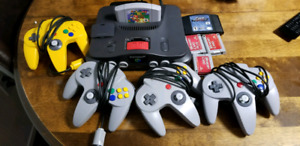 Nintendo 64 w/red expansion pack