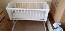 Price reduced Mothercare swinging crib