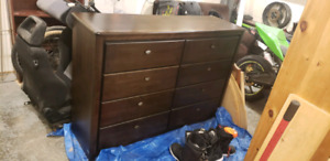 Solid wood 8 drawer dresser