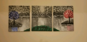 Acrylic paintings - set of 3