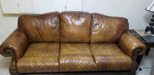 Leather and fabric couches for sale