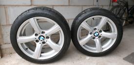 2 x BMW 5 spoke Alloy wheels with tyres