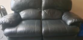 Leather suite 2 seater sofa.