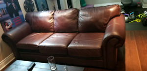 Large leather comfy couch