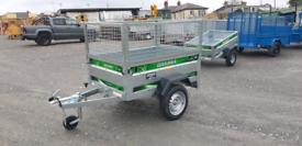 5x3ft trailer 650kg gross meshsides and jockey wheel.